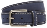 Berge Contrast Stitched Leather Belt