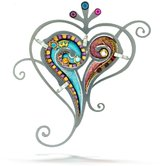 Seeka Paisley Love Heart Pin from The Artazia Collection P0051