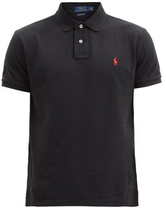 Polo Ralph Lauren Custom Slim-fit Cotton-pique Polo Shirt - Black