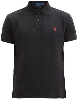 Polo Ralph Lauren Custom Slim-fit Cotton-pique Polo Shirt - Mens - Black