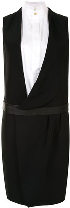Céline Pre-Owned Pre-Owned Layered Tuxedo Dress