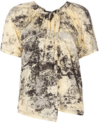 Proenza Schouler Foil Printed Overlapped T-Shirt