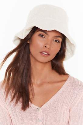 Nasty Gal Womens Borg Bucket Hat - White - One Size