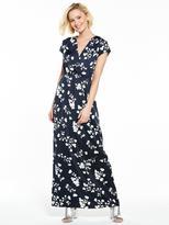 Vila Elaine Cap Sleeve Maxi Dress - Total Eclipse