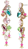 Betsey Johnson Flat Out Floral Linear Earrings