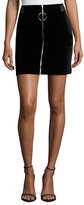 Thierry Mugler Jupe Zip-Front Mini Skirt, Black