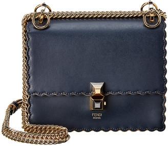Fendi Kan I Small Leather Shoulder Bag