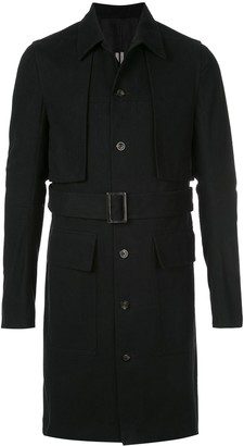 Rick Owens Belted Cotton Trench Coat