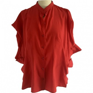 Alexander McQueen Red Silk Top for Women