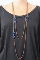 Vanessa Mooney Mesa Double Wrap Necklace in Blue Lapis