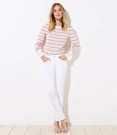 LOFT Tall Curvy Slim Pocket Skinny Jeans in White