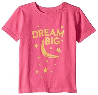 Life is Good Dream Big Crusher Tee (Toddler) (Fiesta Pink) Kid's T Shirt