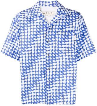 Marni Smile-Print Short-Sleeve Shirt