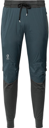 On Slim-Fit Tapered Stretch-Jersey And Ripstop Trousers