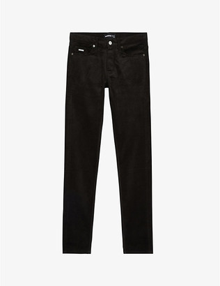 The Kooples Velvet stretch-cotton jeans