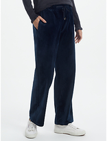 Great Plains Wren Velvet Drawstring Trousers, Classic Navy