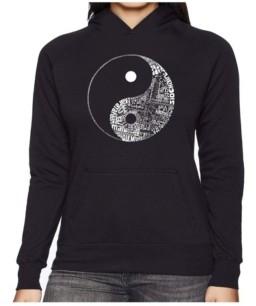 Yin & Yang La Pop Art Women's Word Art Hooded Sweatshirt -Yin Yang