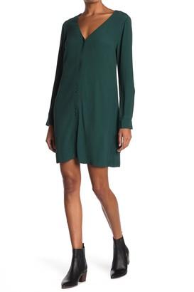 Madewell Long Sleeve Button Front Novel Dress