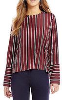 Antonio Melani Penny Stripe Silk Blouse