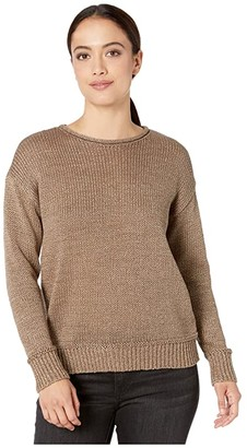 Lauren Ralph Lauren Petite Cotton-Blend Sweater (Gold) Women's Clothing
