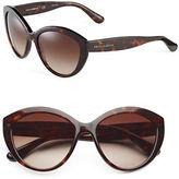 Dolce & Gabbana 56mm Round Cat-Eye Sunglasses