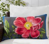 Pottery Barn Peony Print Indoor/Outdoor Lumbar Pillow