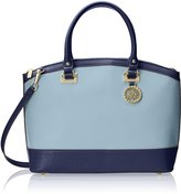 Anne Klein New Recruits Large Dome Satchel, Stone-Navy
