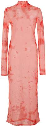 Nomia sheer tie dye dress