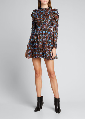 Ulla Johnson Siya Silk Kaleidoscope-Print Mini Dress