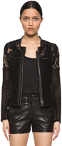 IRO Lewis Lace Jacket in Black