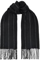Harrods Of London Chalk Stripe Cashmere Scarf