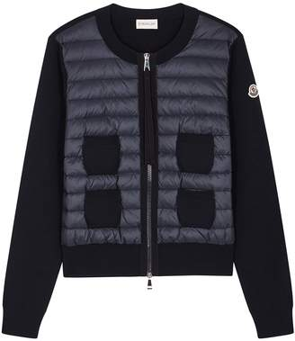 Moncler Maglione Navy Wool Jacket