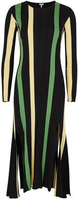 Loewe Striped rib-knit cotton midi dress