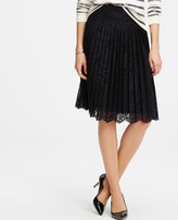 Ann Taylor Lace Pleated Skirt