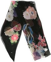 Saint Laurent floral print scarf - women - Silk - One Size