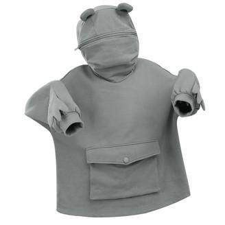 Fasbb Oversized Hoodie Blanket Giant Women Warm Soft Hoody Sweatshirt Blanket Soft Warm Frog Teen Hoody with Flap Pocket (B-Grey XXL)