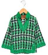 Tory Burch Girls' Pineapple Long Sleeve Tunic