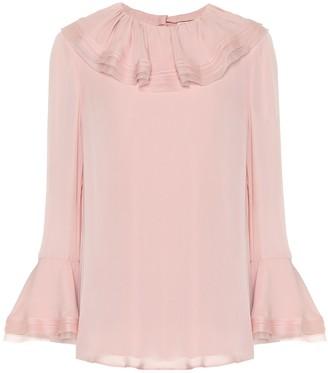 Tory Burch Silk blouse with ruffles