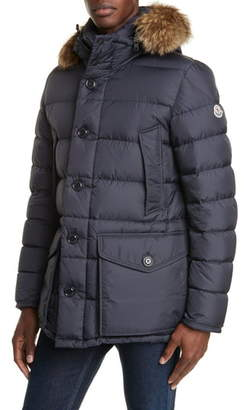 Moncler Cluny Down Parka with Genuine Fur Trim Hood