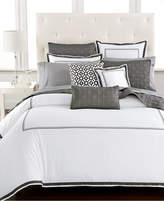 Hotel Collection Embroidered Frame Twin Duvet Cover, Created for Macy's Bedding
