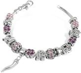 Nuovegioie Tedora Sterling Silver Lucky Charm Bracelet