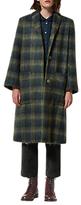 Toast Brushed Mohair Coat, Olive