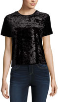 Arizona Short Sleeve Velvet Top- Juniors