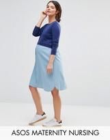 ASOS Maternity - Nursing ASOS Maternity NURSING Knitted and Chambray Mix Dress
