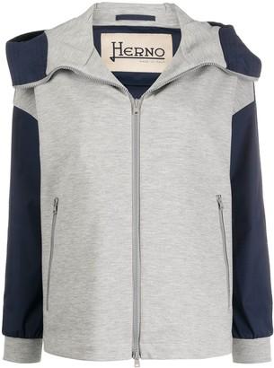 Herno High-Neck Hooded Jacket