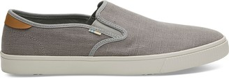 Toms Drizzle Grey Heritage Canvas Men's Baja Slip-Ons Topanga Collection