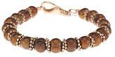 "Honora As Is Cultured Pearl 7.5mm Ringed 8"" Bronze Bead Bracelet"