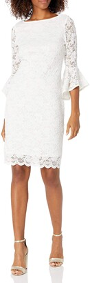 Tiana B T I A N A B. Women's Boat Neck lace Dress