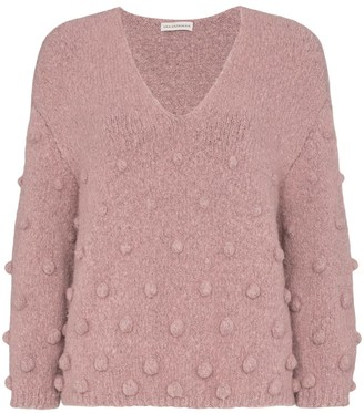 Vika Gazinskaya bobble detail V-neck sweater