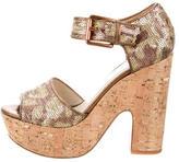 KORS Sequin Platform Sandals